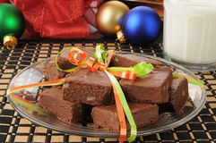 Holiday fudge Stock Photography