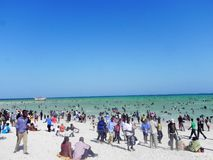 Holiday fun at the beach of  the Indian Ocean Mombasa Royalty Free Stock Image