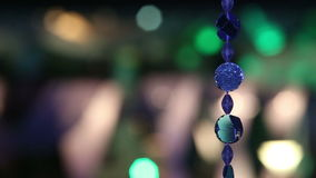 Holiday garland on wedding stock footage
