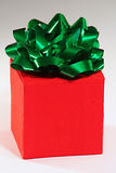Holiday gift. Wrapped up in a box royalty free stock image