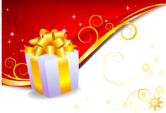 Holiday Gift. With free space for text at the right corner Royalty Free Stock Photo
