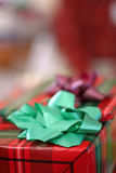 Holiday Gift. Close up of a an unwrapped present during the holidays Stock Image