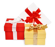 Holiday gift boxes Royalty Free Stock Photos