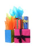 Holiday gift boxes Stock Photos
