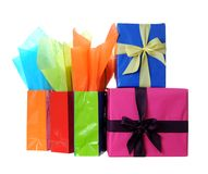 Holiday gift boxes Royalty Free Stock Photography