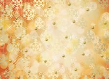 Holiday gift boxes decorated with bows. And ribbons on the bright abstract background Royalty Free Stock Photography