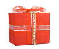 Holiday gift boxes decorated with bows Royalty Free Stock Image