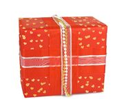 Holiday gift boxes decorated with bows Royalty Free Stock Photos