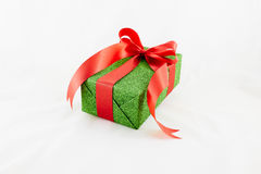 Holiday gift boxes decorated with ribbon  on white. Background Royalty Free Stock Photography