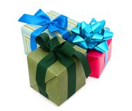 Holiday gift boxes Royalty Free Stock Image