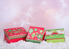 Holiday Gift Boxes Stock Photography