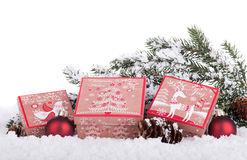 Holiday Gift Boxes Royalty Free Stock Photo
