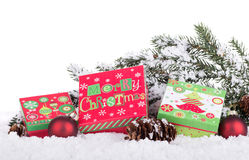 Holiday Gift Boxes Stock Images