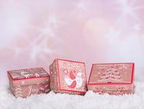 Holiday Gift Boxs Royalty Free Stock Photography