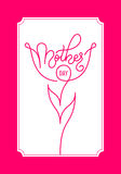 Holiday gift card with hand lettering Mother`s Day. Template for a banner, poster, flyer, invitation Royalty Free Stock Photo