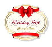 Holiday gift card template Royalty Free Stock Image