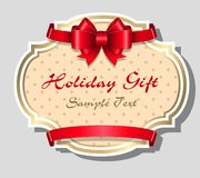 Holiday gift card template Royalty Free Stock Photos
