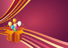 Holiday gift and celebration background Royalty Free Stock Image