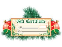 Holiday Gift Certificate Stock Photography