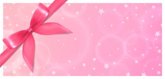 Holiday Gift Certificate, Gift Voucher, Coupon template royalty free illustration