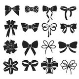 Holiday gift christmas bows vector set Stock Images