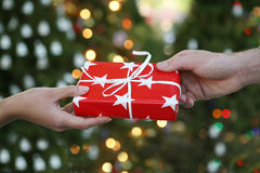 Holiday Gift Giving Royalty Free Stock Image
