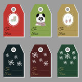 Holiday gift new year and christmas gift tags Royalty Free Stock Photos