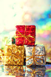 Holiday gift packages Royalty Free Stock Photo