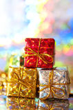 Holiday gift packages Royalty Free Stock Image