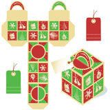 Holiday gift packaging template Royalty Free Stock Photography