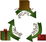 Holiday Gift Return Stock Photo