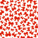 Holiday gift seamless pattern with red bow Royalty Free Stock Photos