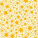 Holiday gift seamless pattern with yellow star Stock Images