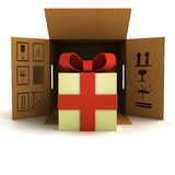 Holiday gift surprise safety delivery Stock Images
