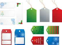 Holiday Gift Tags. Collection of holiday gift tags - christmas and winter theme Royalty Free Stock Image