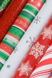 Holiday Gift Wrap Papers Royalty Free Stock Images