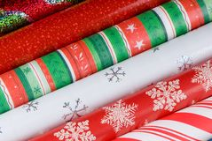 Holiday Gift Wrap Papers Stock Images