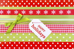 Holiday Gift Wrapping Background. Stock Photography