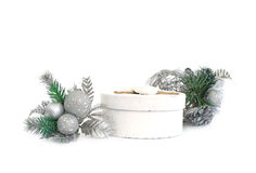 Holiday gift wrapping Royalty Free Stock Photos