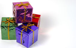 Holiday Giftboxes Stock Image