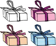 Holiday gifts. Objects for design vector illustration
