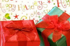 Holiday Gifts Royalty Free Stock Photos