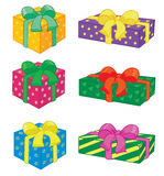Holiday gifts. With bow same color Vector Illustration