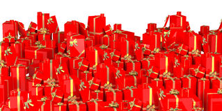 Holiday gifts background - red Royalty Free Stock Photography