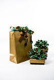 Holiday Gifts. Gift bags and boxes ready for the holiday season Royalty Free Stock Image