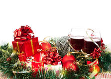 Holiday gifts and ornaments Stock Image