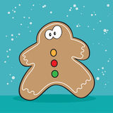 Holiday Gingerbread cookie weird. Holiday Gingerbread man cookie weird Stock Photography