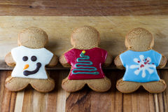 Holiday gingerbread cookies Stock Image