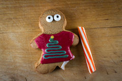 Holiday gingerbread cookies Stock Images