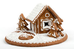 Holiday Gingerbread house isolated on white. Stock Images